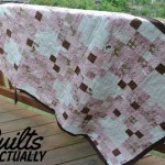 Pink and Brown Quilt