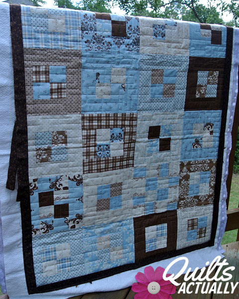 Blue And Brown Pandora S Quilt Quilts Actually